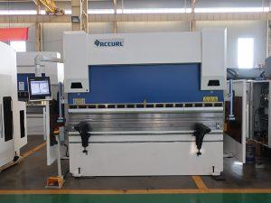 WC67K 500T / 4000mm cnc hidrouliese vlekvrye staal drukrem, hoë doeltreffendheid plaat plaat buig masjien