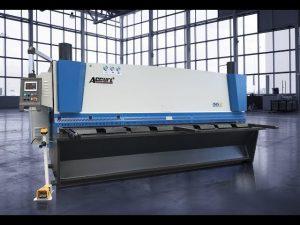Hydraulische guillotine skeer masjien MS8 8x4000mm met Duitsland ELGO P40T touch screen CNC