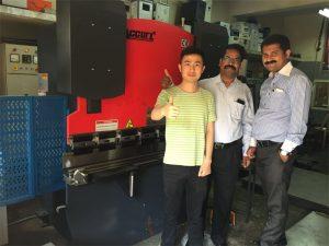 Indië kliënte besoek fabrieke en koop masjiene