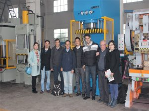 Die delegasie van Peru het gekom om ons fabriek en koopmasjiene te besoek